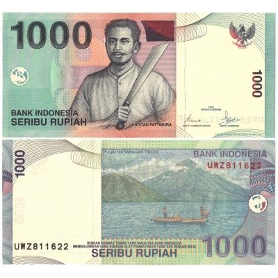 Indonésie - bankovka 1000 rupiah 2000 UNC