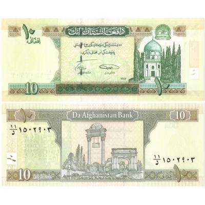 Afghánistán - bankovka 10 afghanis 2002 UNC