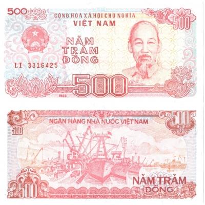 Vietnam - bankovka 500 dong 1988 aUNC