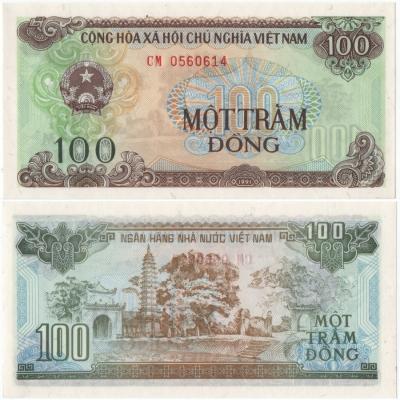 Vietnam - bankovka 100 dong 1991 UNC