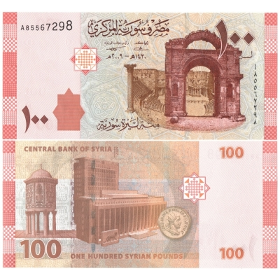 Sýrie - bankovka 100 pounds 2009 UNC