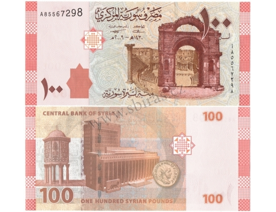 Sýrie - bankovka 100 pounds 2009 UNC