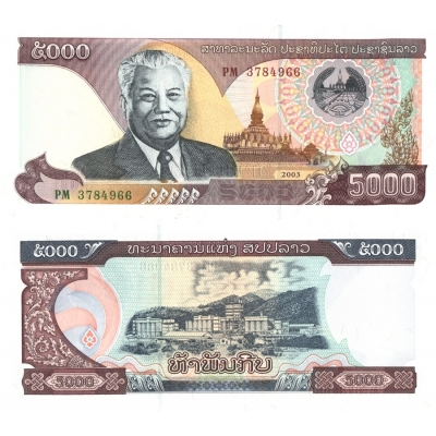 Laos - bankovka 5000 kip 2003 UNC