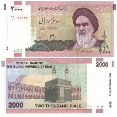 Írán - bankovka 2000 rials 2000 UNC