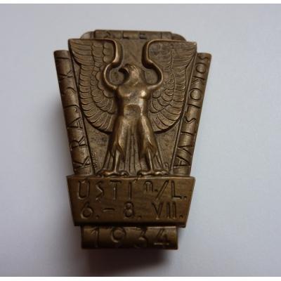 Československo - odznak Krajský slet sokolstva Ústí nad Labem 1934