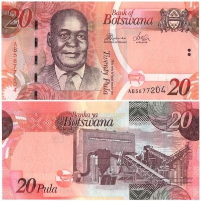 Botswana- bankovka 20 pula 2010 UNC
