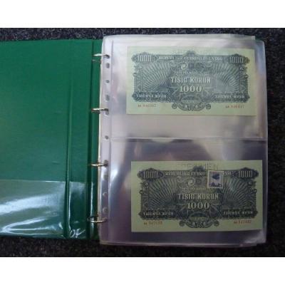 Náhradní list do alba na bankovky A4 - 10 kusů