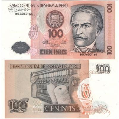 Peru - bankovka 100 intis 1987