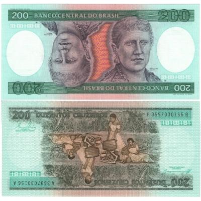 Brazílie - bankovka 200 cruzeiros 1981-1984 UNC
