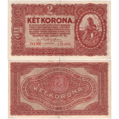 Maďarsko - bankovka 2 korona 1920