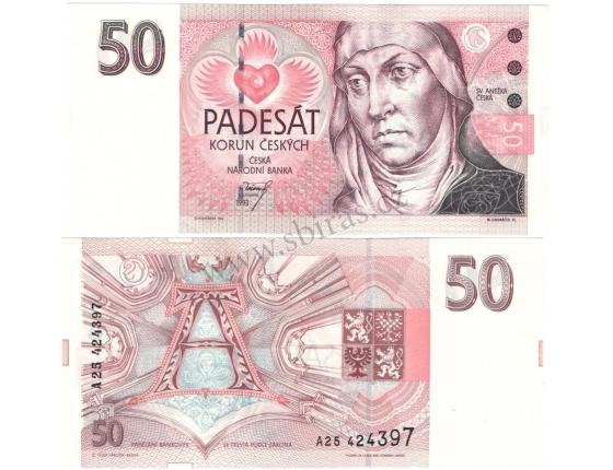 50 korun 1993, série A, UNC