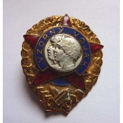 Československo - odznak Vzorný voják