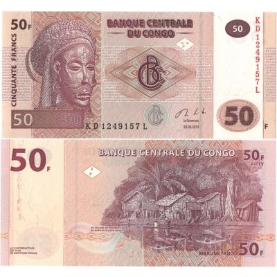 Kongo - bankovka 50 francs 2013 UNC