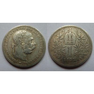 František Josef I. - stříbrná mince 1 koruna 1895