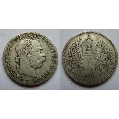 František Josef I. - stříbrná mince 1 koruna 1898
