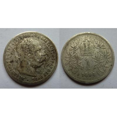 František Josef I. - stříbrná mince 1 koruna 1894