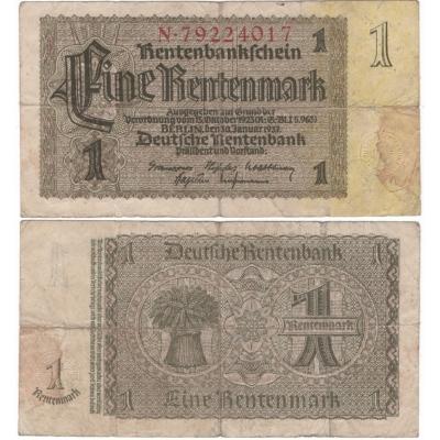 Deutschland - Banknote 1 Rentenmark 1937