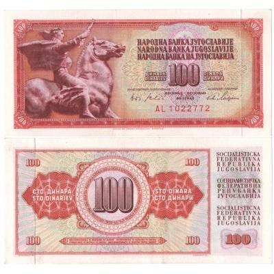 Jugoslávie - 100 dinárů 1965