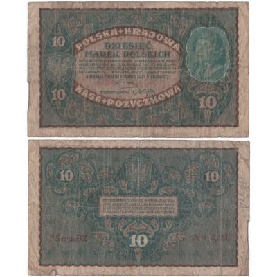 Polsko - bankovka 10 marek 1919