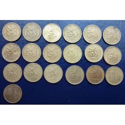 20 haléřů 1973-1992, sada ročníků