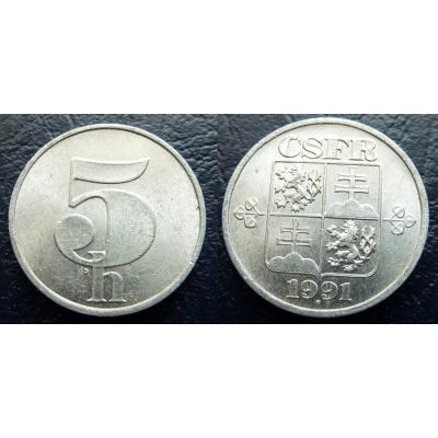 5 haléřů 1991