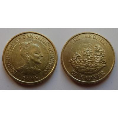 Dánsko - mince 20 korun 2006