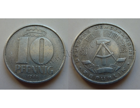 10 Pfennig 1968 A