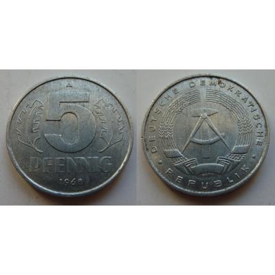 NDR - mince 5 Pfennig 1968 A
