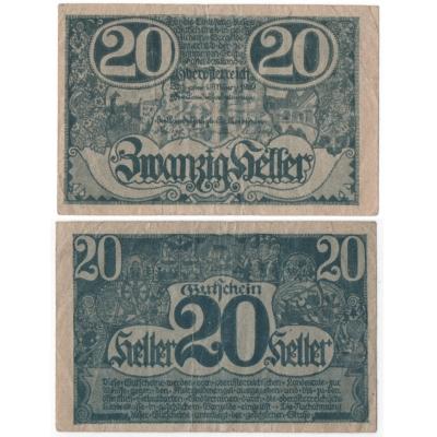 Rakousko - Gutschein 20 haléřů 1920