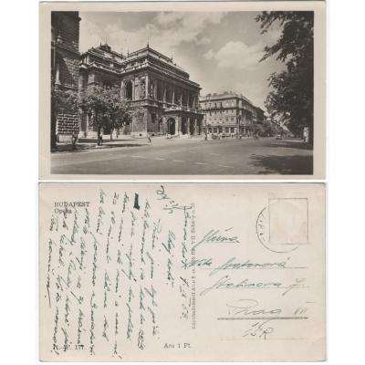 Budapešť opera, pohlednice1953