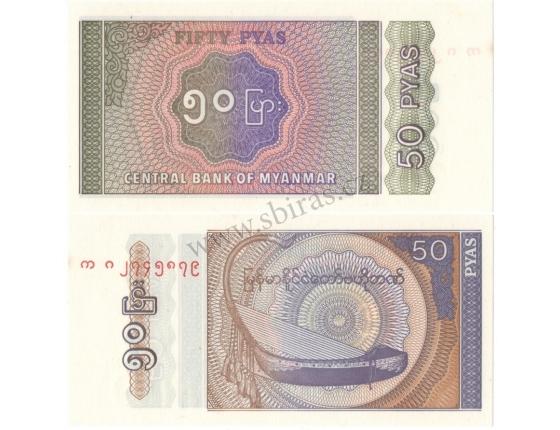 Barma - bankovka 50 pyas UNC