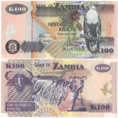 Zambie - bankovka 100 kwacha 2006