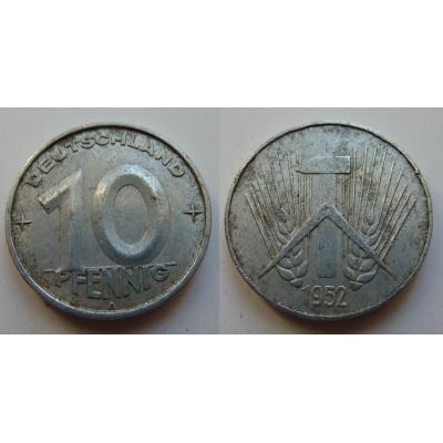 NDR - mince 10 Pfennig 1952 A