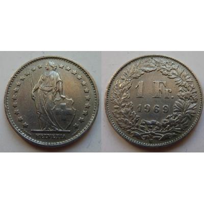 Switzerland - 1 Franc 1969