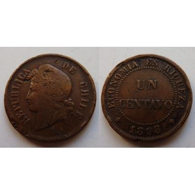 Chile - mince 1 centavo 1898