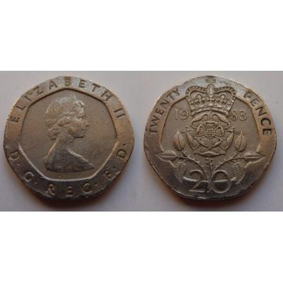 Velká Británie - 20 pence 1983