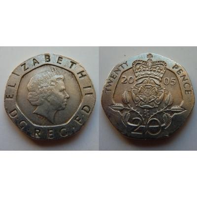 Velká Británie - 20 pence 2005