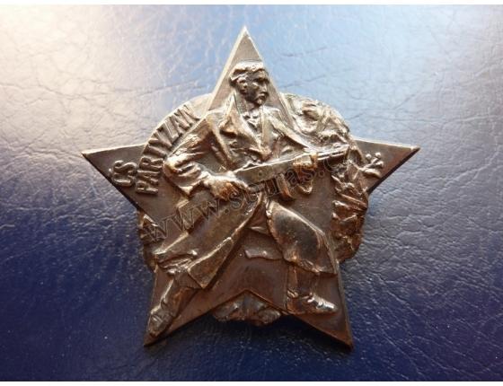 Československý partyzán, odznak šroubovací