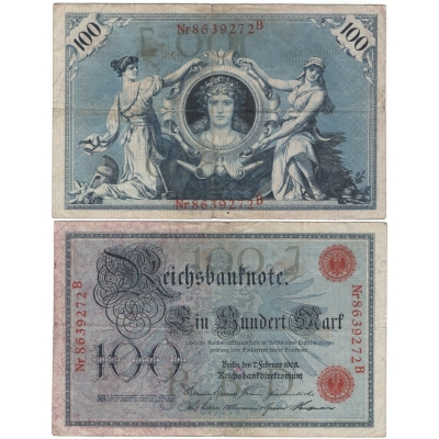 Reichsbanknote 100 Mark 1908