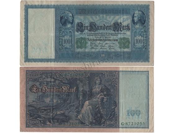 Německé císařství - bankovka 100 marek 1910