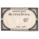 Francie - bankovka 5 Livres 1793