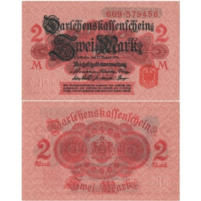 Germany - banknote 2 Mark 1914 UNC