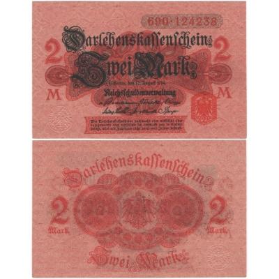 Deutschland - Banknote 2 Mark 1914
