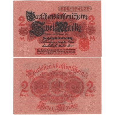 Germany - banknote 2 Mark 1914