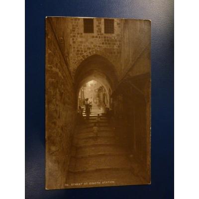 Asie - pohlednice Jeruzalém, Osmé zastavení Ježíže s křížem (1929)