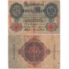 Německé císařství - bankovka Reichsbanknote 20 marek 1914, 6-místný číslovač