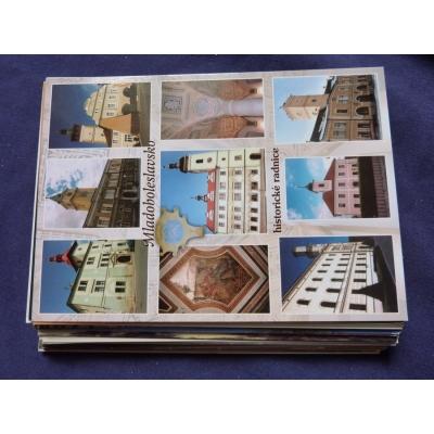 Československo - 50x pohlednice místopis, nepopsané