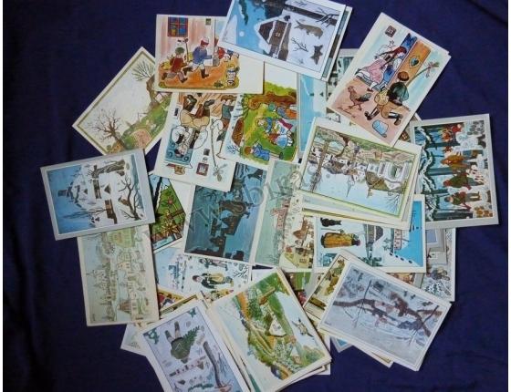 Josef Lada - soubor pohlednic 80ks