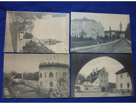Třeboň - sada reprintů pohlednic 4ks