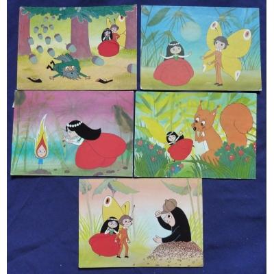 Maková panenka - soubor pohlednic